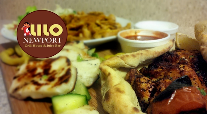 Lilo Newport: Chicken Shawarma, Grilled Halloumi Cheese and Chicken Wings.