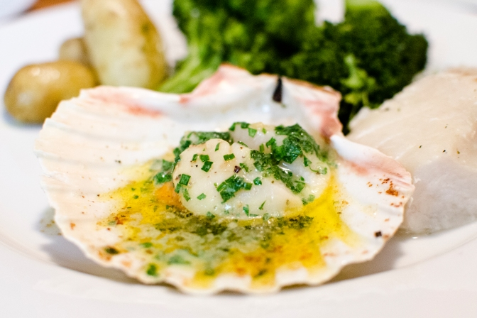 Super Quick Scallops in the Shell