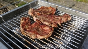 Lamb Steaks on the Thuros