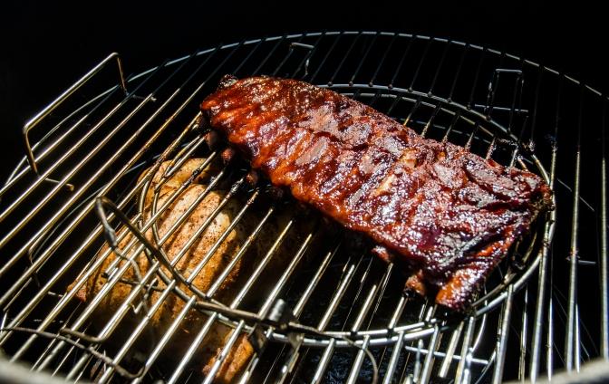 Maple Glazed Pork Ribs & Whole Chicken