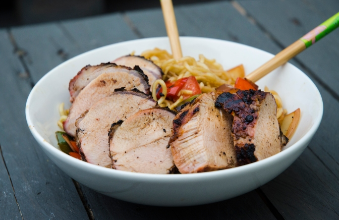 Charred Char Siu Pork with Noodles